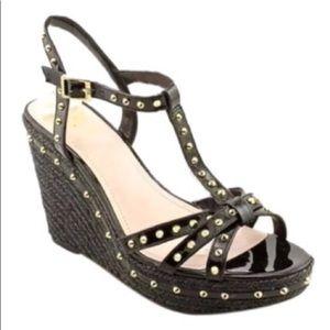 Vince Camuto black wedge sandals.